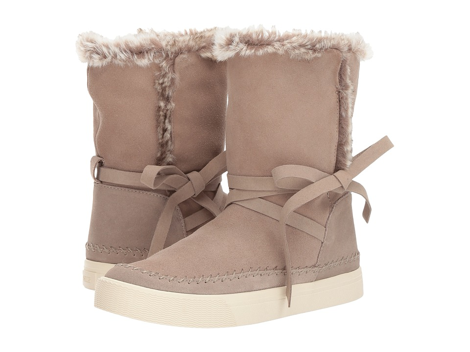 TOMS Vista (Desert Taupe Waterproof Suede/Faux Fur) Women