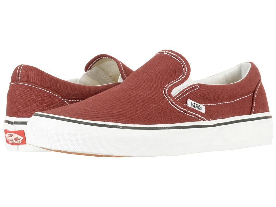 Vans Classic Slip-Ontm (Madder Brown/True White) Skate Shoes