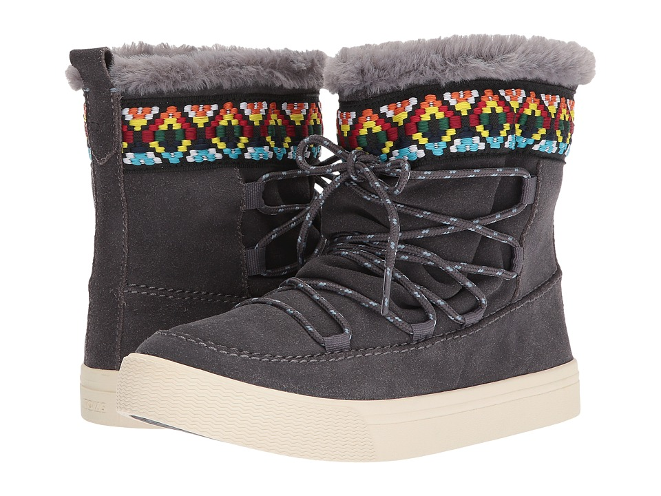 TOMS Alpine (Forged Iron Grey Waterproof Suede/Tribal Webbing) Women