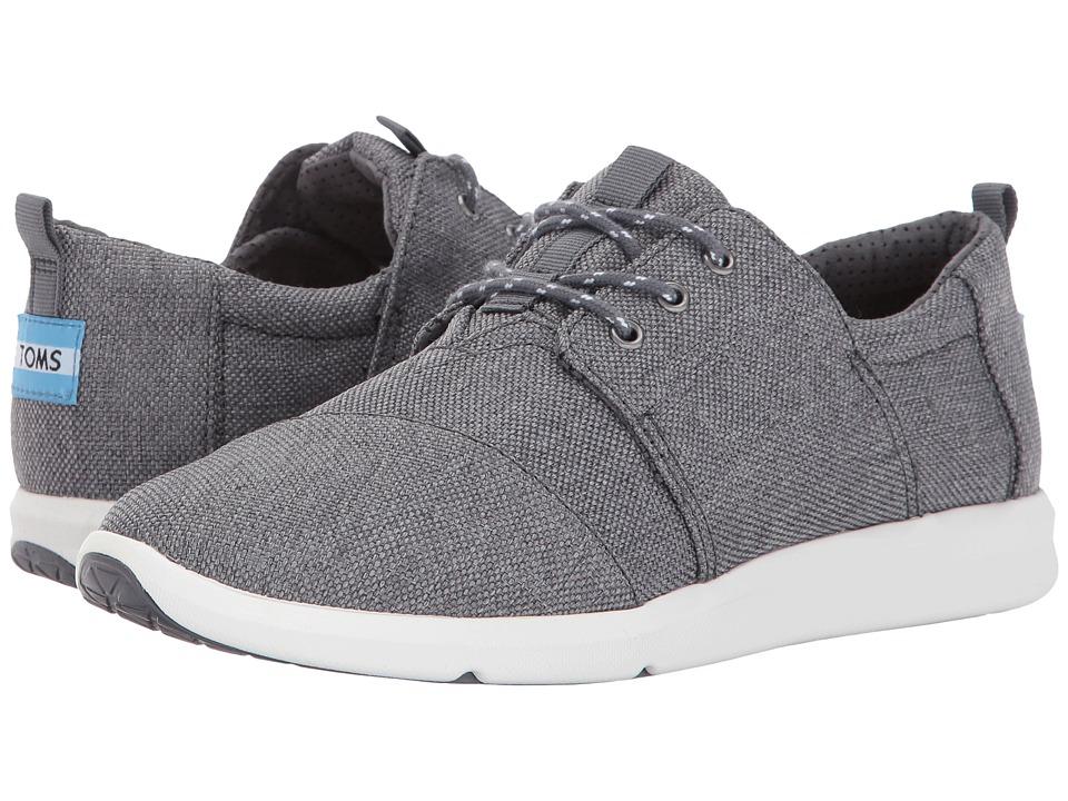 TOMS Del Rey Sneaker (Steel Grey Poly Canvas) Women