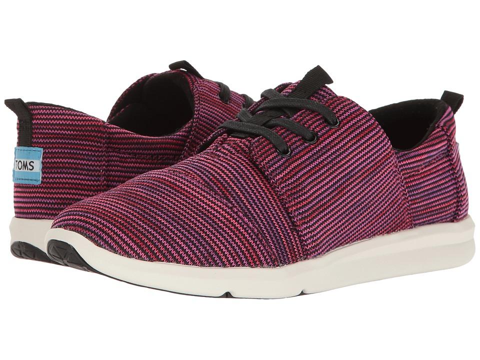 TOMS Del Rey Sneaker (Black Plum Multi Knit) Women