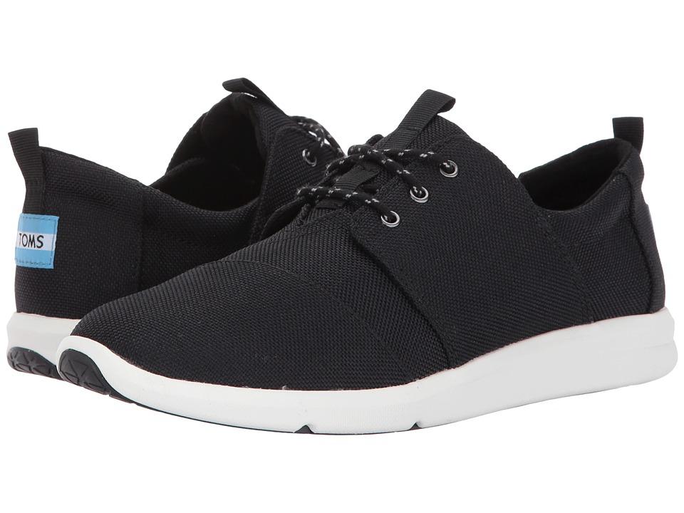 TOMS Del Rey Sneaker (Black Poly Canvas) Women