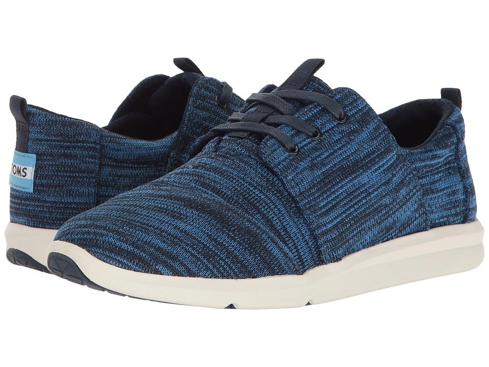 TOMS Del Rey Sneaker (Nautical Blue Multi Knit) Women