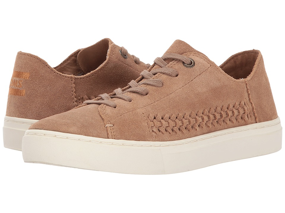 TOMS Lenox Sneaker (Toffee Constructed Suede/Woven Panel) Women