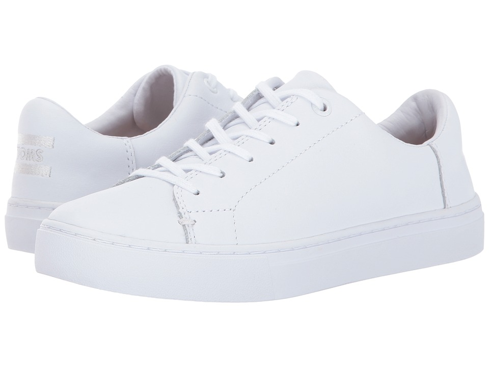 TOMS Lenox Sneaker (White Leather) Women