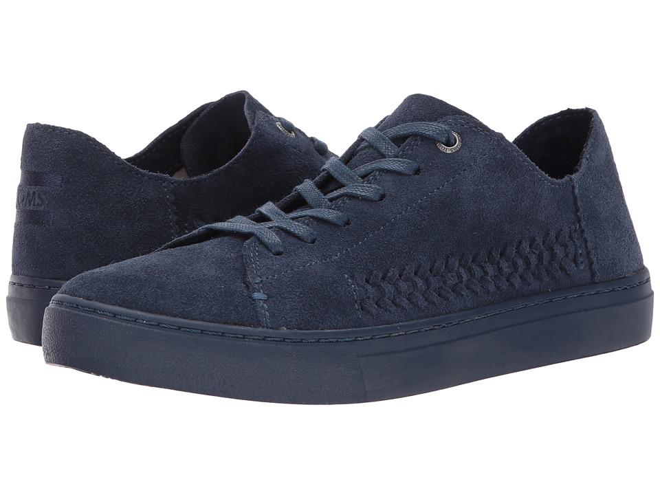 TOMS Lenox Sneaker (Navy Monochrome Deconstructed Suede/Woven Panel) Women