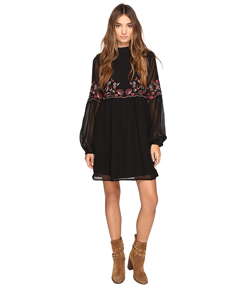 ROMEO & JULIET COUTURE High Neck Embroidered Dress