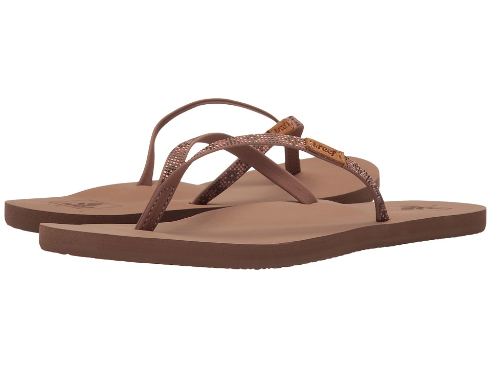 Reef - Slim Ginger Beads (Dusty Brown) Women's Sandals