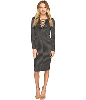 ROMEO & JULIET COUTURE - Long Sleeve Metallic Knit Dress