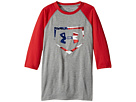 Under Armour Kids Plate Icon 3/4 Tee (Big Kids)