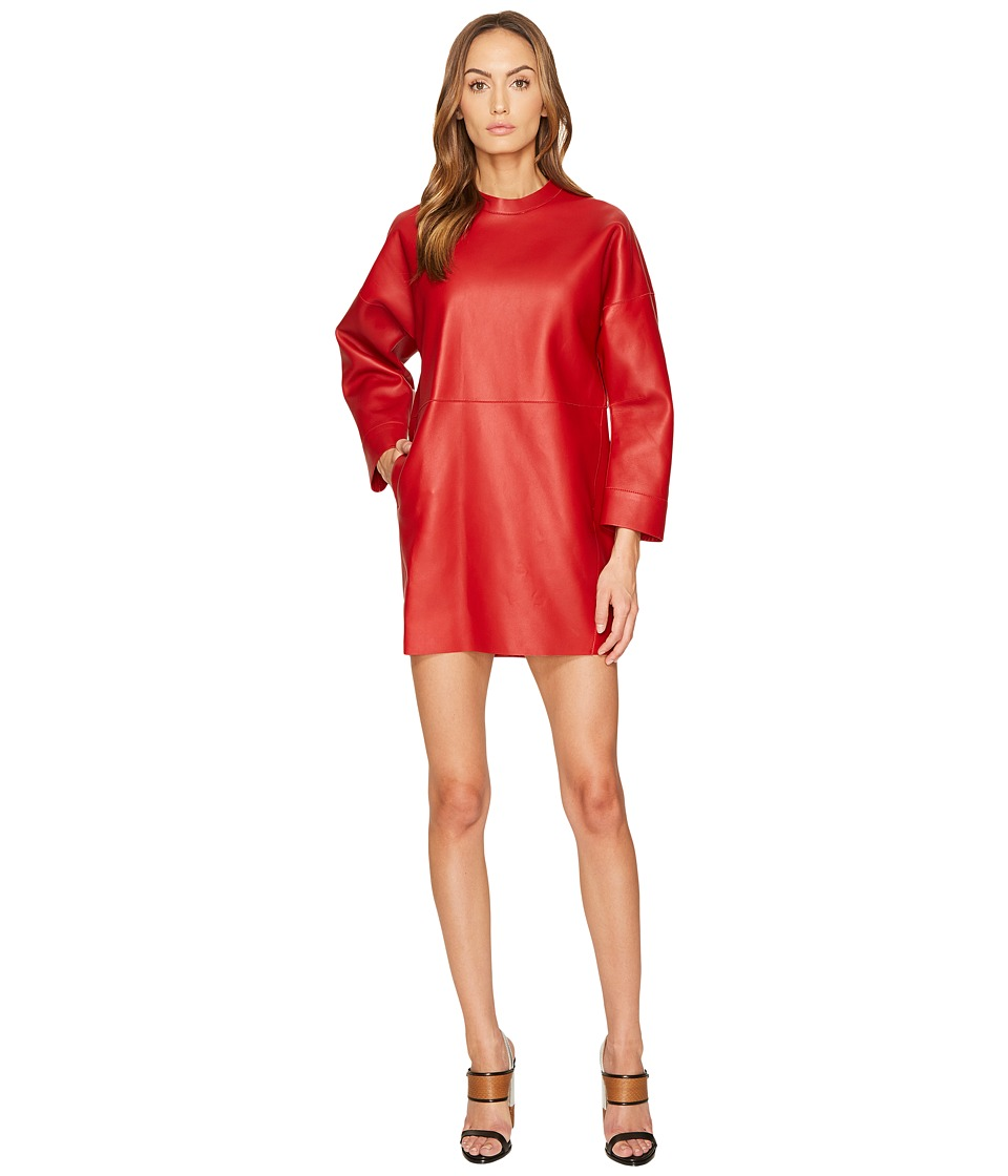 DSQUARED2 - Boned Leather Dress (Red) Womens Dress