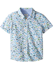 Paul Smith Junior - Short Sleeve Dinosaur All Over Printed Shirt (Toddler/Little Kids)