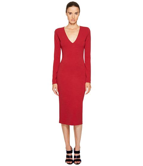 DSQUARED2 Wool Jersey Long Sleeve Dress