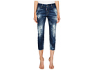 DSQUARED2 Baker Wash Cool Girl Cropped Jeans in Blue