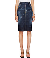 DSQUARED2 - Best Blue Wash Dalma Long Skirt