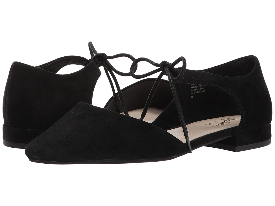 1960s Style Shoes Seychelles - Prospect Black Suede Womens Flat Shoes $90.00 AT vintagedancer.com