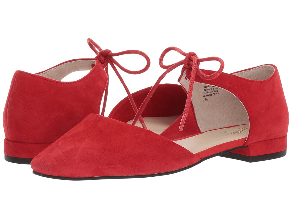 Retro Vintage Flats and Low Heel Shoes Seychelles - Prospect Red Suede Womens Flat Shoes $90.00 AT vintagedancer.com