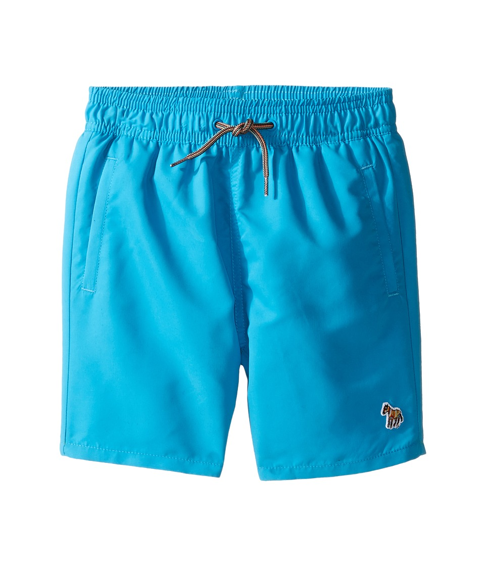 Paul Smith Junior - Turquoise Swim Shorts with Dino Appearing When Wet