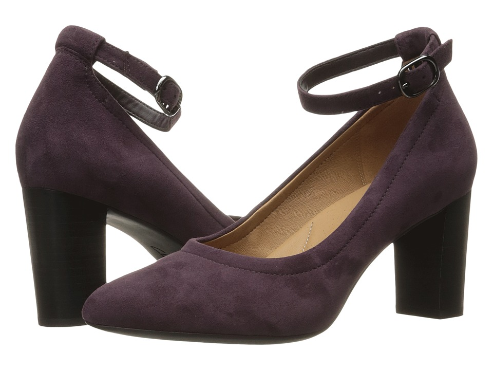 Clarks - Chryssa Jana (Aubergine Suede) High Heels