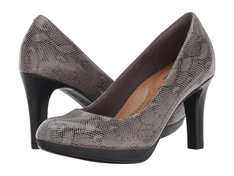 Clarks Adriel Viola (Stone Snake) High Heels