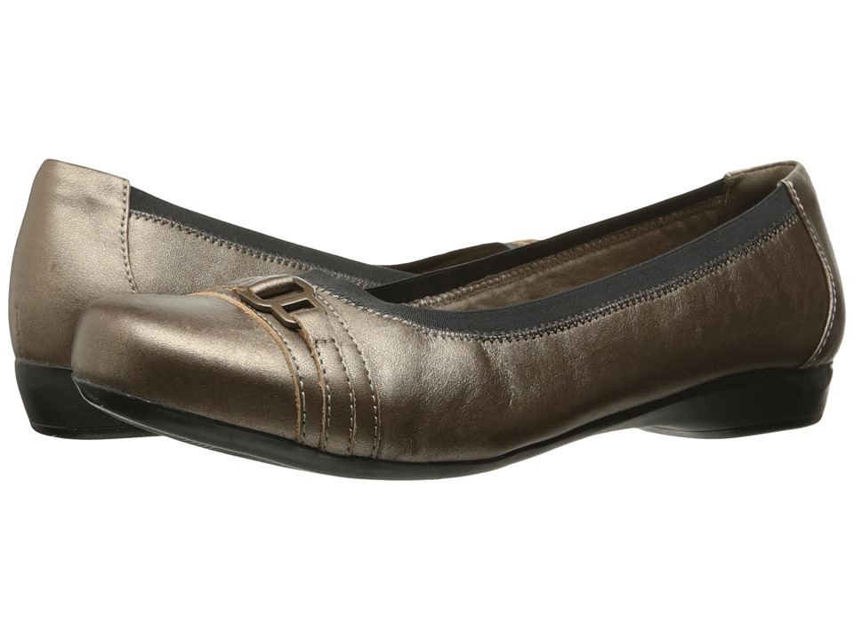 Clarks Kinzie Light (Pewter Leather) Flats