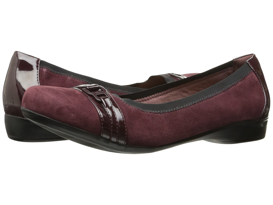Clarks Kinzie Light (Burgundy) Flats
