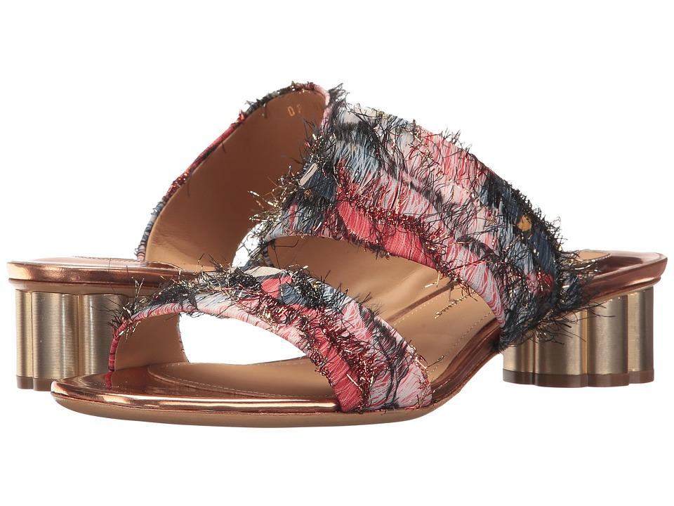 Salvatore Ferragamo Bellunov (Multicolor Jacquard Fringe) High Heels
