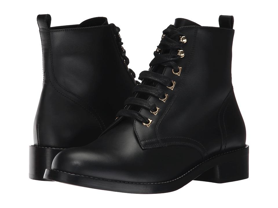 Salvatore Ferragamo Trieste (Nero Calf Leather) Women's S...