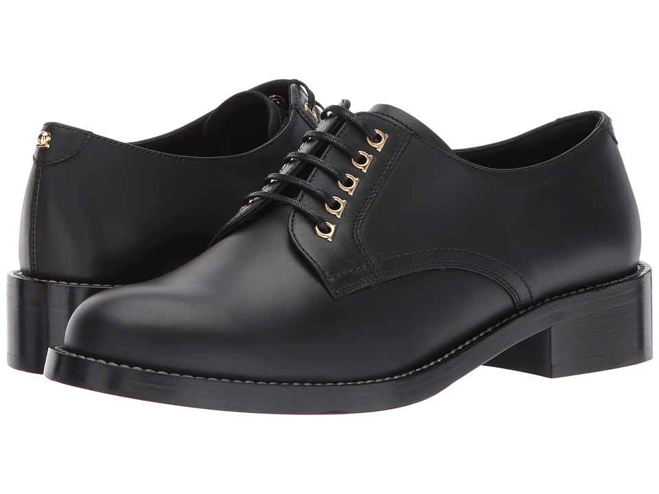 Salvatore Ferragamo Calfskin Oxford (Nero Calf Leather) Women