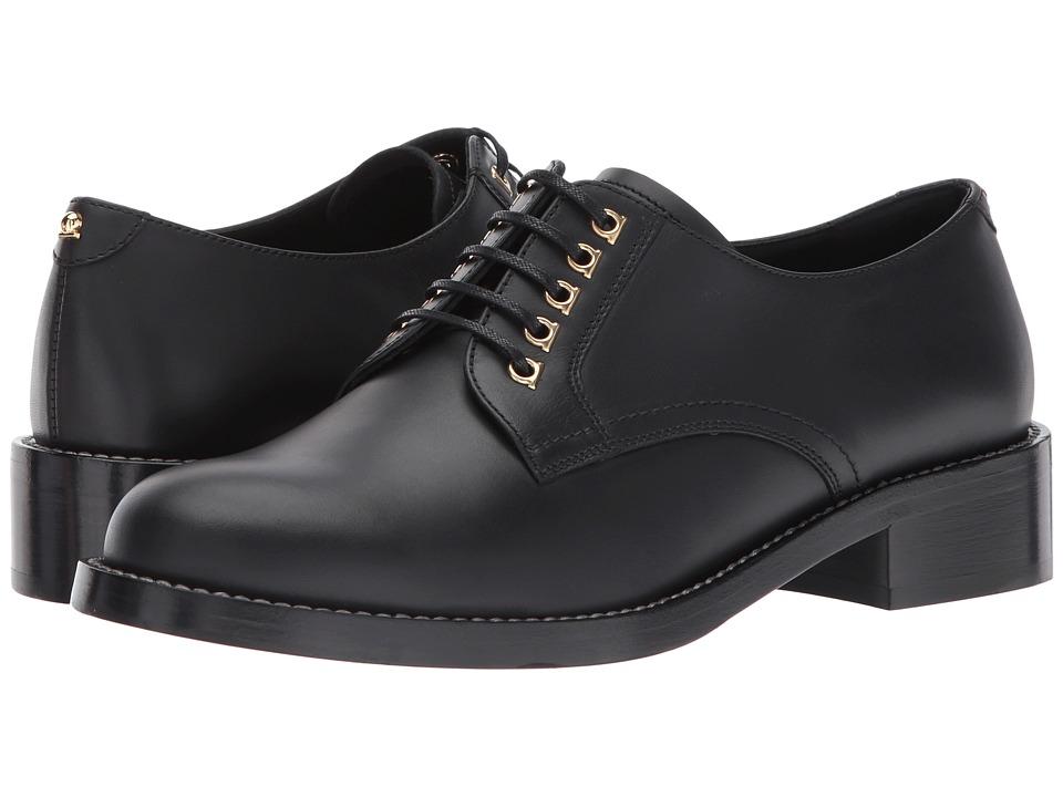 Salvatore Ferragamo Calfskin Oxford (Nero Calf Leather) Women