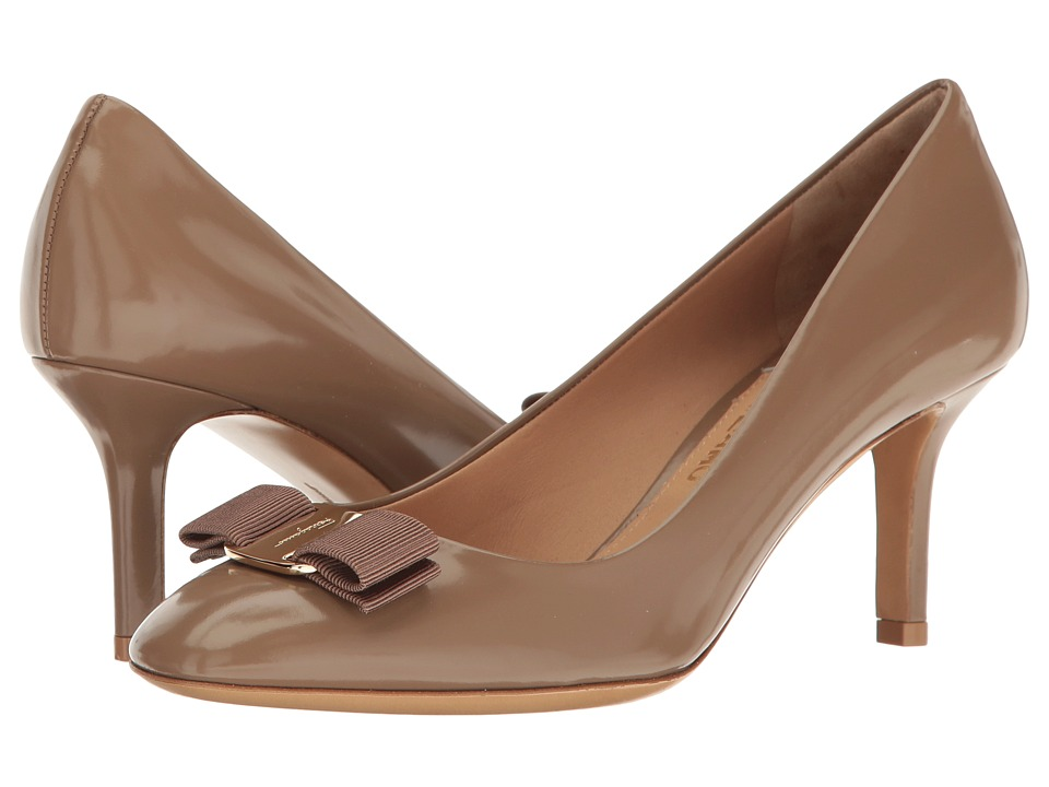 Salvatore Ferragamo Erice 70 (Clay High Polished Calf) High Heels