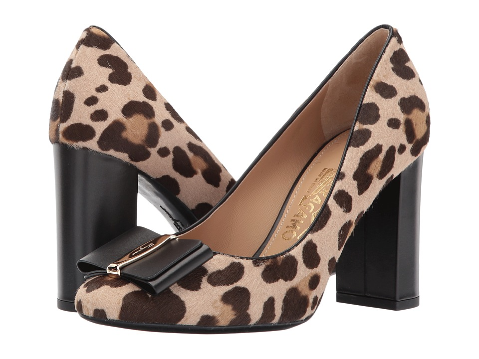 Salvatore Ferragamo Aosta 85 (Leopardo Calf Pony Hair) High Heels