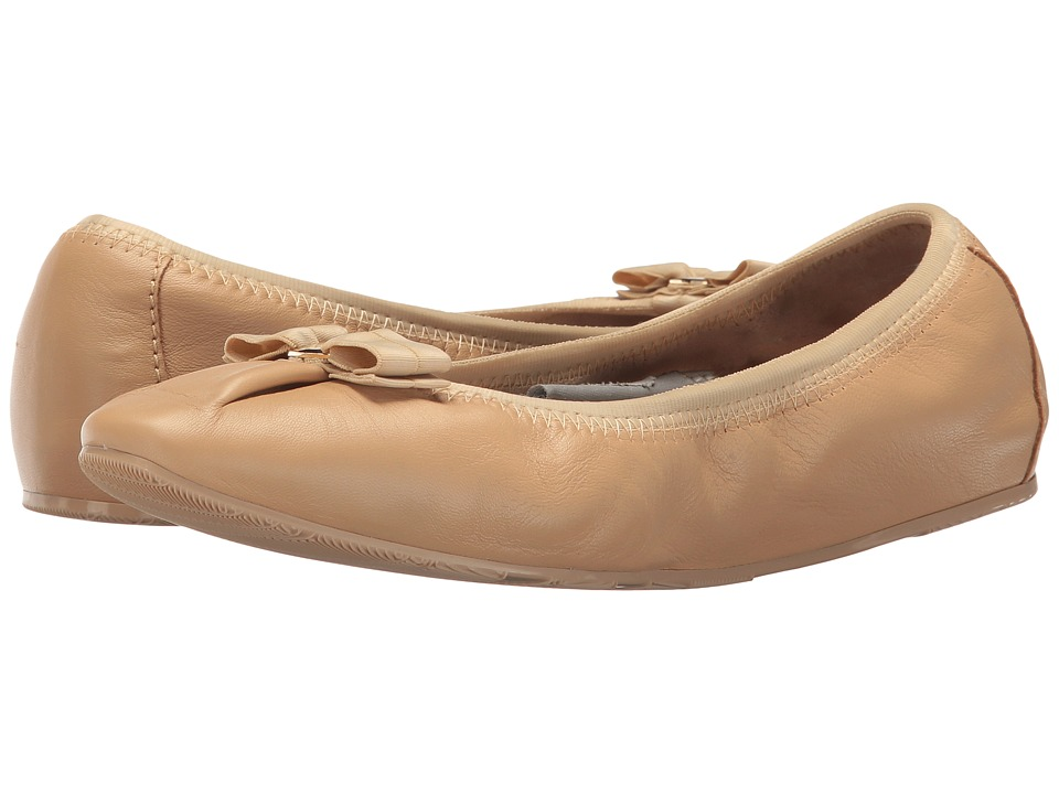 Salvatore Ferragamo Nappa Flex Ballerina Flat (Alpaca Nappa Leather) Women