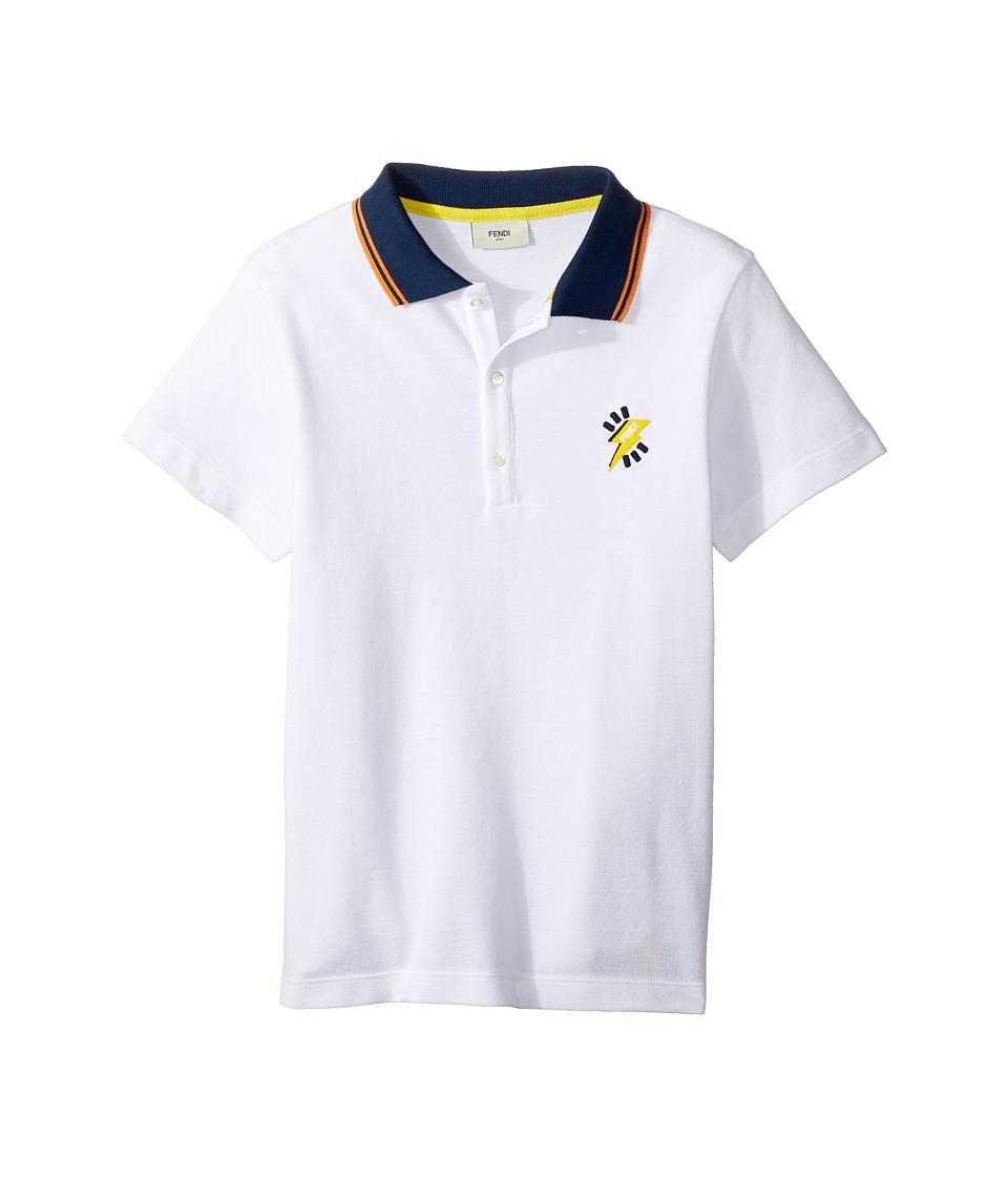Fendi Kids - Short Sleeve Polo T-Shirt w/ Logo Detail
