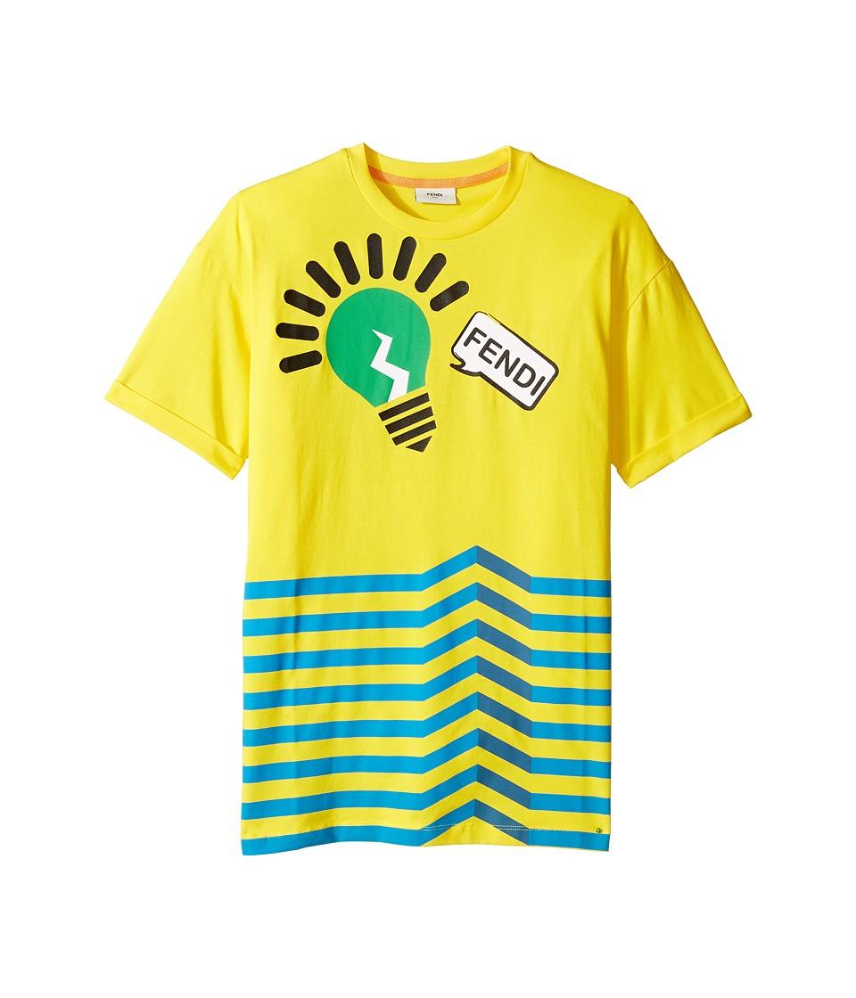 Fendi Kids - Short Sleeve Logo Light Bulb Graphic T
