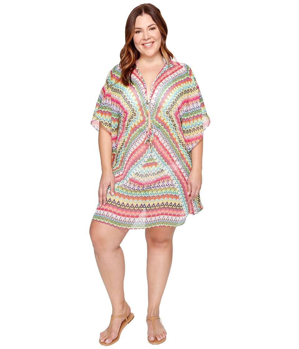 Bleu Rod Beattie Plus Size In Living Color Caftan Cover-Up (Multi) Women