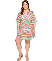 Bleu Rod Beattie - Plus Size In Living Color Caftan Cover-Up