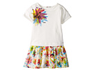 Junior Gaultier - Dress with T-Shirt Top with Image of Flower and Flower Bottom (Toddler/Little Kids)