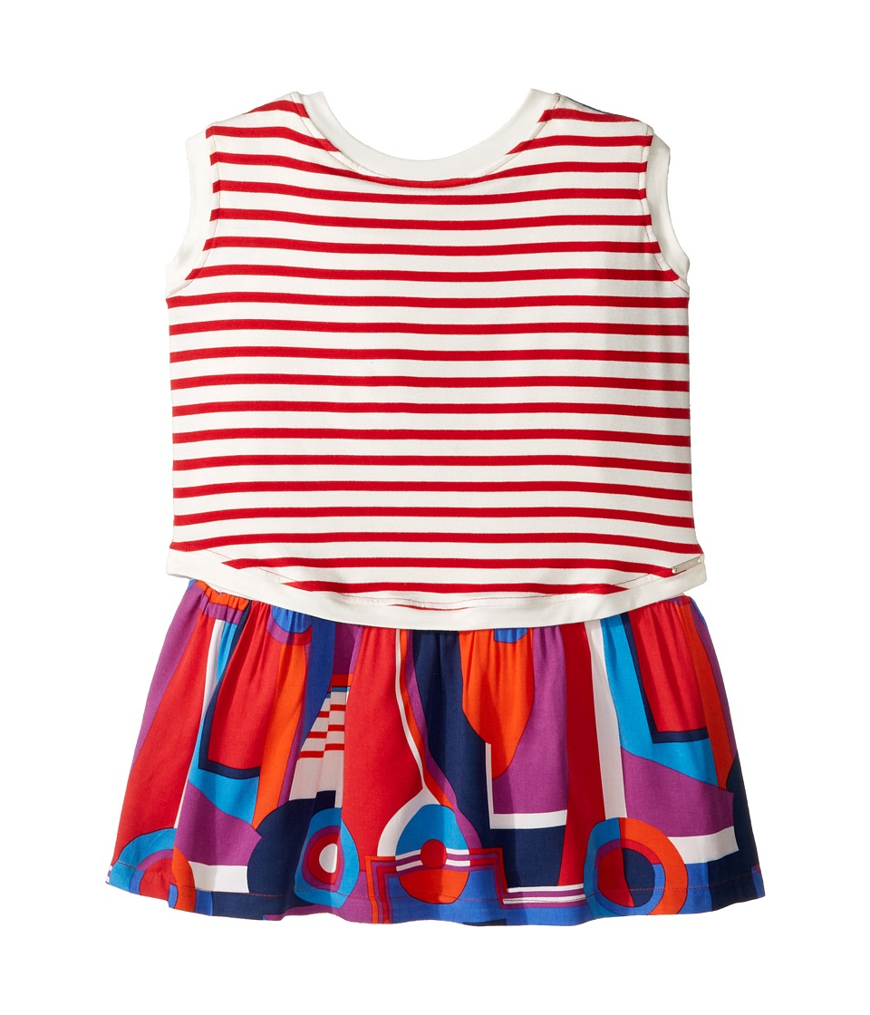 Junior Gaultier - Striped/Color Block Front and Back Printed Dress