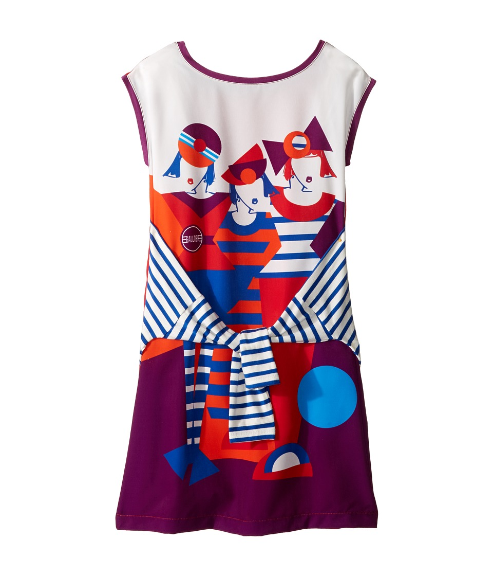 Junior Gaultier - Dress with Image of 3 Girls w/ Fake Tyed Sleeves