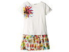 Junior Gaultier - Dress with T-Shirt Top with Image of Flower and Flower Bottom (Big Kids)