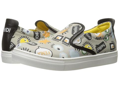 Fendi Kids All Over Print Slip-On Sneakers (Little Kid/Big Kid)