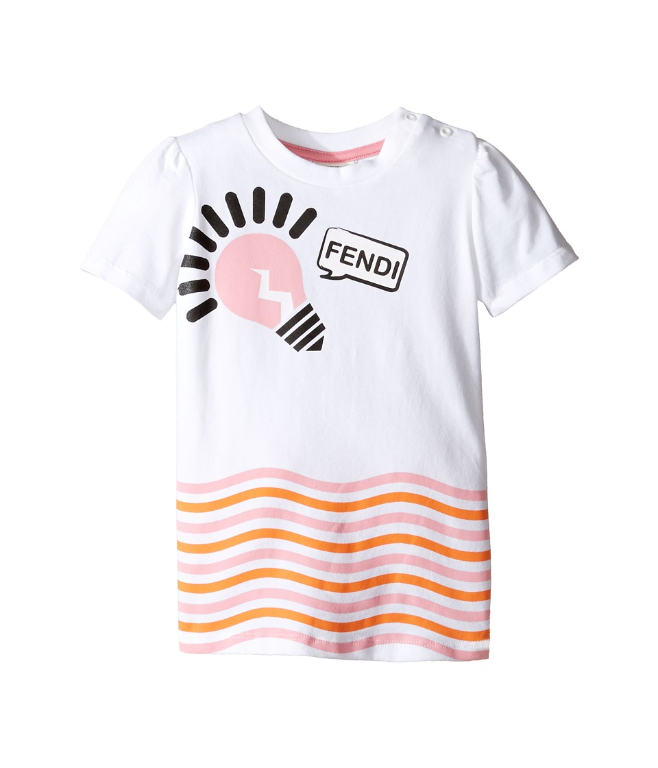 Fendi Kids - Short Sleeve Logo Light Bulb Graphic T-Shirt