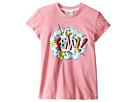 Fendi Kids - Short Sleeve T-Shirt w/ Logo Design on Front (Little Kids)