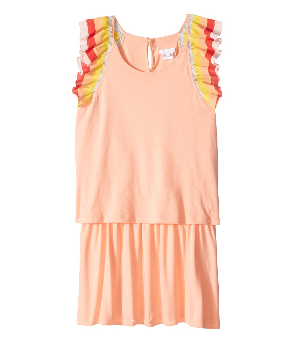Chloe Kids - Rainbow Ruffles Short Sleeve Dress From Adult Collection