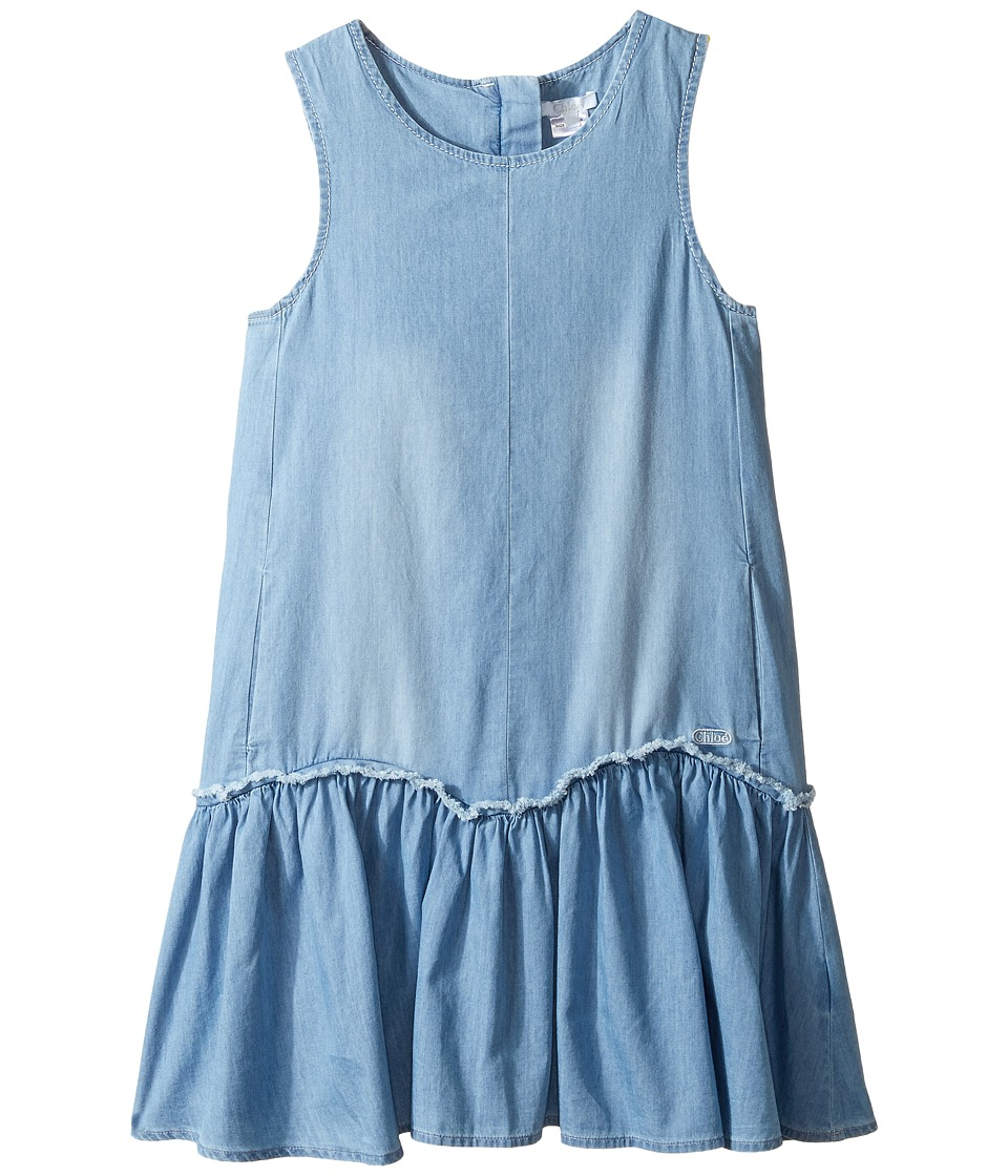 Chloe Kids - Denim Effect Sleeveless Dress From Adult Collection