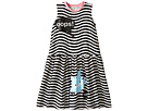 Fendi Kids - Sleeveless Striped Dress w/ Logo Cat Graphic (Little Kids)