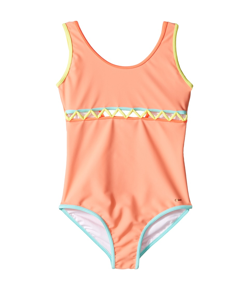 Chloe Kids - Lining Detail One-Piece Swimsuit (Little Kid...
