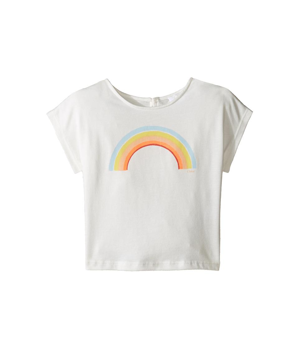 Chloe Kids - Sunglasses Or Rainbow Print Short Sleeve Tee Shirt