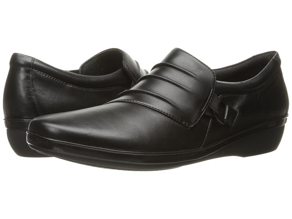 Clarks Everlay Heidi (Black Leather) Slip-On Shoes